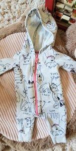 Carter's Puppy Zip-Up, Hooded Onesie